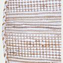 Tapis en coton recyclé et jute - naturel et blanc D160cm-lieto