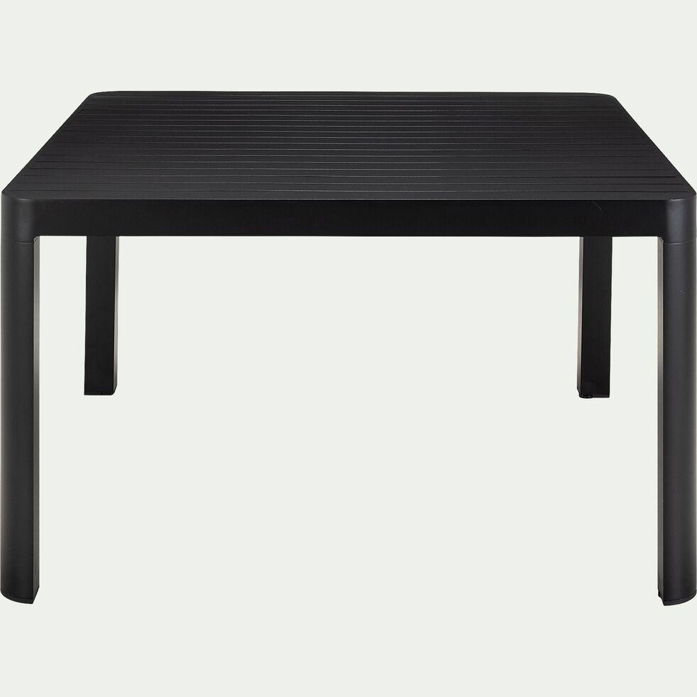 Table de jardin carrée en aluminium - noir (8 places)-Guilia