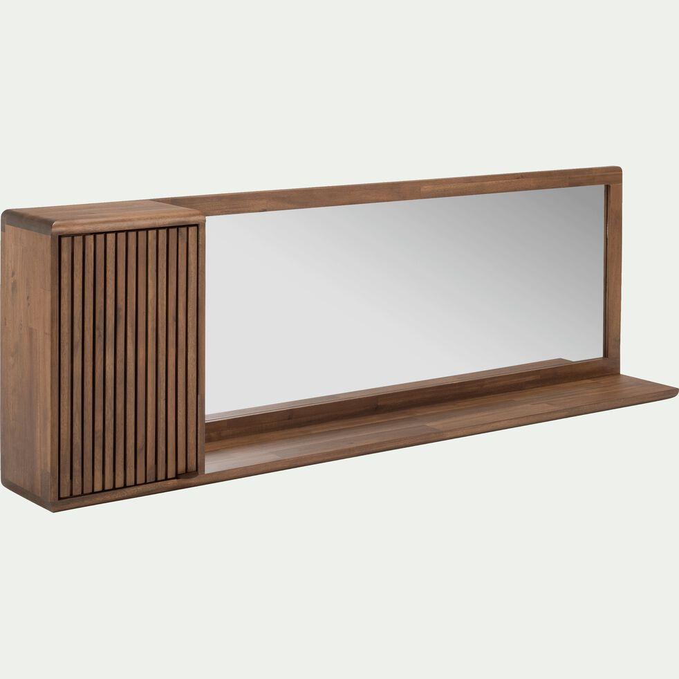 Meuble étagère miroir en acacia 150x20x50 cm-LOUVANS