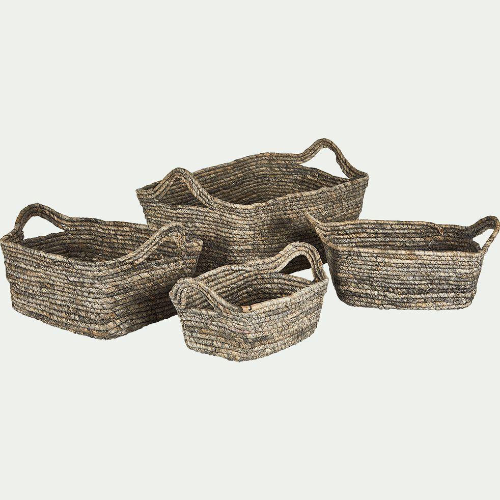 Panier en feuilles de maïs - naturel H16xL40cm-Oriane