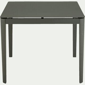 Table de jardin carrée en aluminium - vert (4 places)-Estila