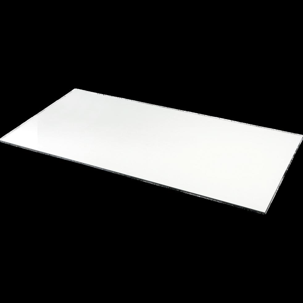 plateau de bureau en verre transparent - 75x150 cm