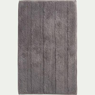 Tapis de bain en coton antidérapant - l50xL80cm gris restanque-Gabin