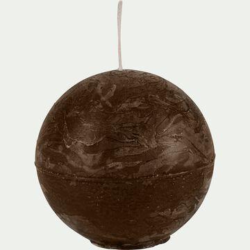 Bougie ronde brun ombre D6cm-BEJAIA