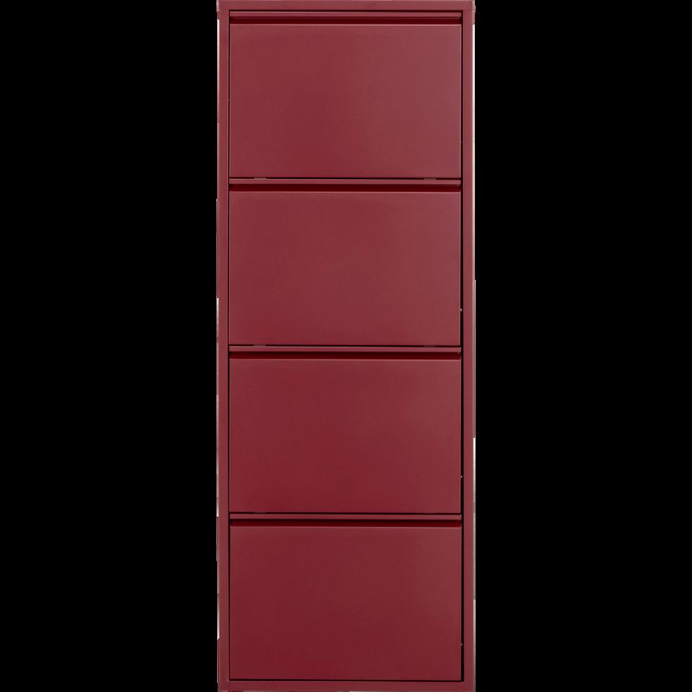 meuble chaussures en acier rouge sumac 8 paires lofter meubles chaussures alinea. Black Bedroom Furniture Sets. Home Design Ideas