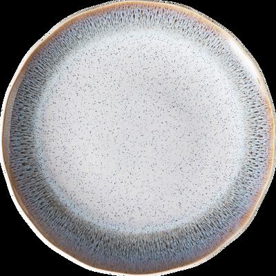 Assiette plate en grès blanc D27cm-PAON