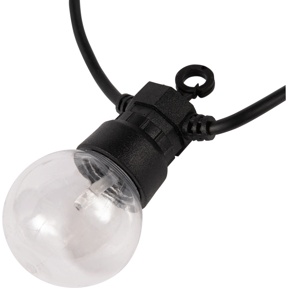 Guirlande lumineuse 20 LED blanc chaud L8,7m-PARTY CLEAR