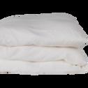 Housse de couette en lin Blanc capelan 260x240cm-VENCE