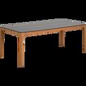 Table de jardin en eucalyptus et composite (6 à 8 places)-HONOS