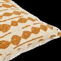 Coussin en coton à motifs beige nèfle 45x45 cm-BARRAS
