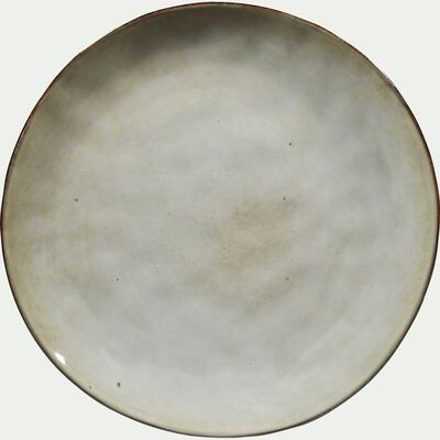 Assiette à dessert en grès vert D20cm-ADAM