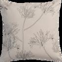 Coussin motif floral écru 40x40cm-AGAPANTHE