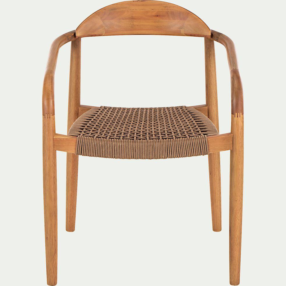 Chaise avec accoudoirs en eucalyptus-MILIAS