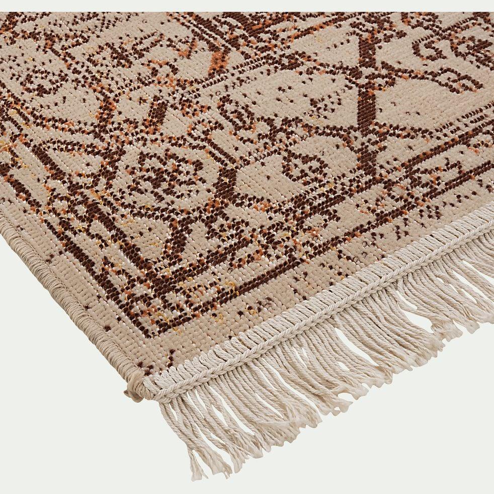 Tapis traditionnel mongol - marron 160x230cm-OURGA