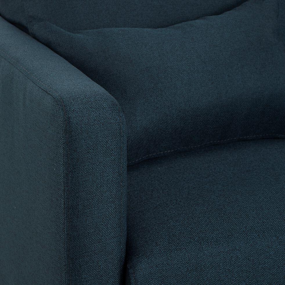 Canapé 3 places convertible en tissu - bleu marine-PERTUIS