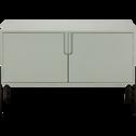 Buffet vert olivier avec pieds en métal noir L124cm-CLERET