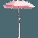 Parasol de plage rose D180cm-GASSIN