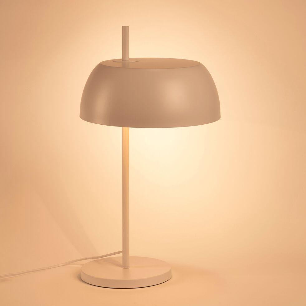 Lampe en métal blanc nougat H54xD30cm-LOLLY