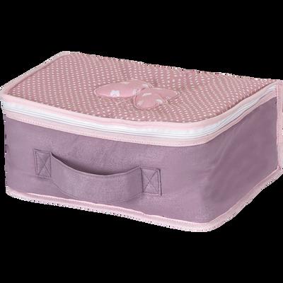 Petite valisette rose pour enfant-PAPILLONS