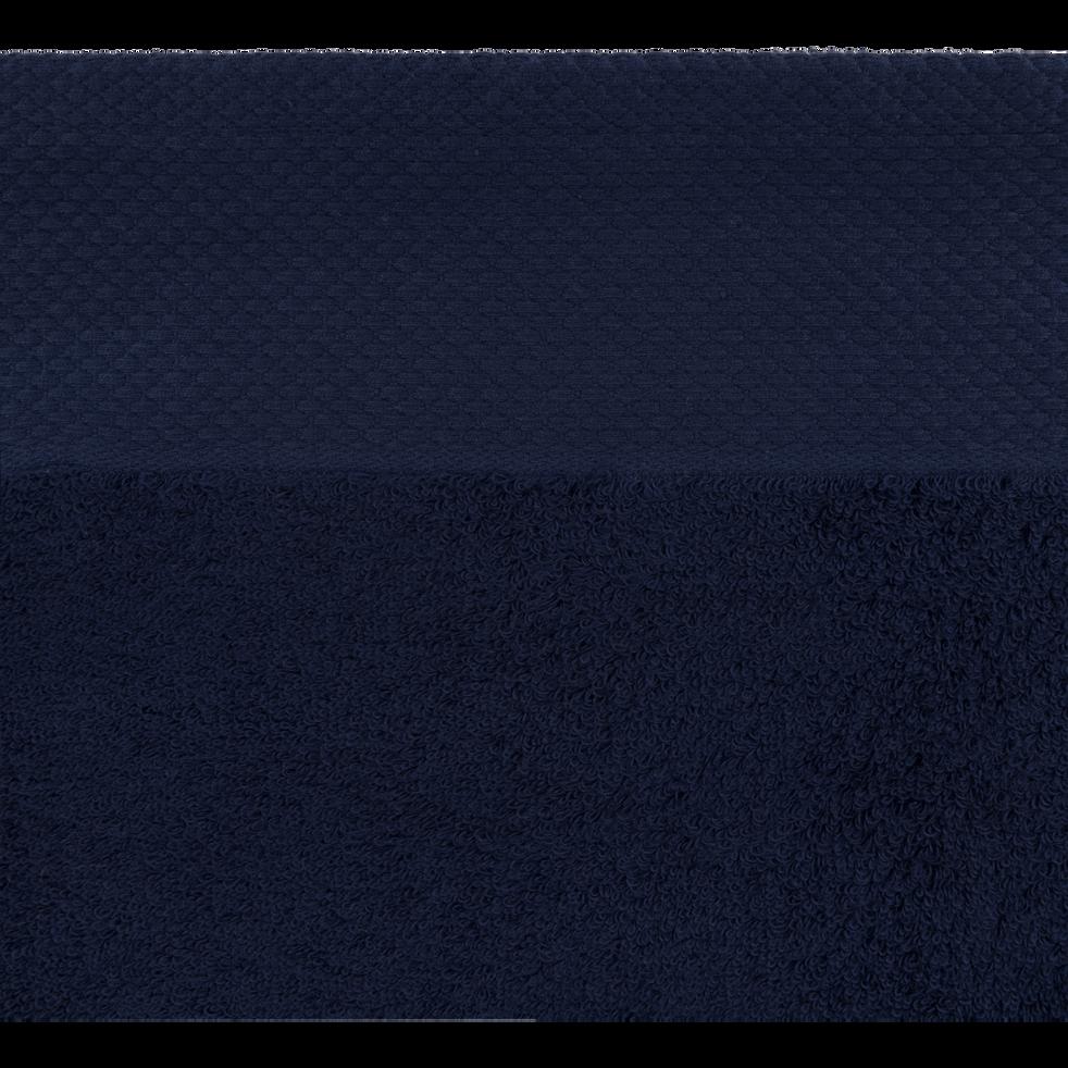 Serviette invité en coton 30x50cm bleu myrte-AZUR