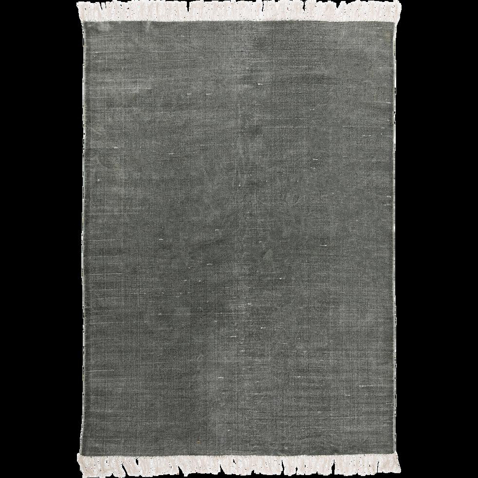 Tapis en coton vert cèdre 150x200cm-PALMA