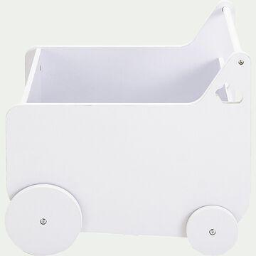 Range-livres à roulettes pour chambre enfant - blanc-Dico