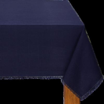 Nappe en lin et coton bleu myrte 170x250cm-CASTILLON