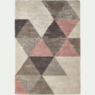 Tapis à motifs géométriques - rose 200x290cm-OSLO
