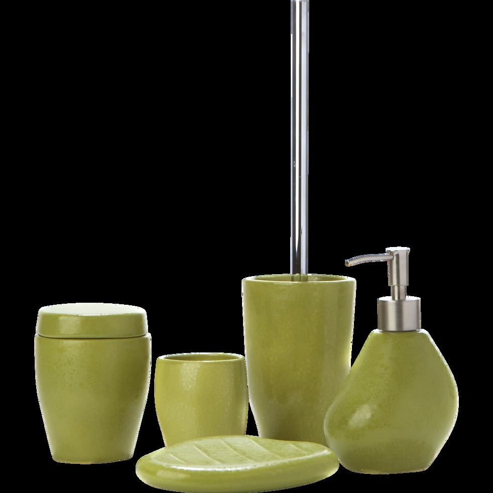 Porte savon vert mate en céramique-Jarro