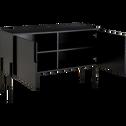 Buffet noir avec pieds en métal L124cm-CLERET