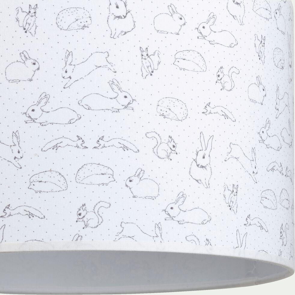 Abat-jour motif lapin d35cm - blanc-Bestiaire
