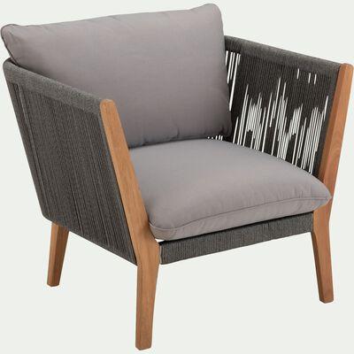 Fauteuil de jardin en cordes - gris vésuve-BELLONE