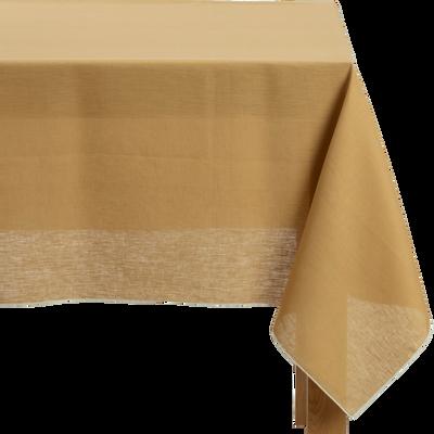 Nappe en lin et coton beige nèfle 170x300cm-MILA