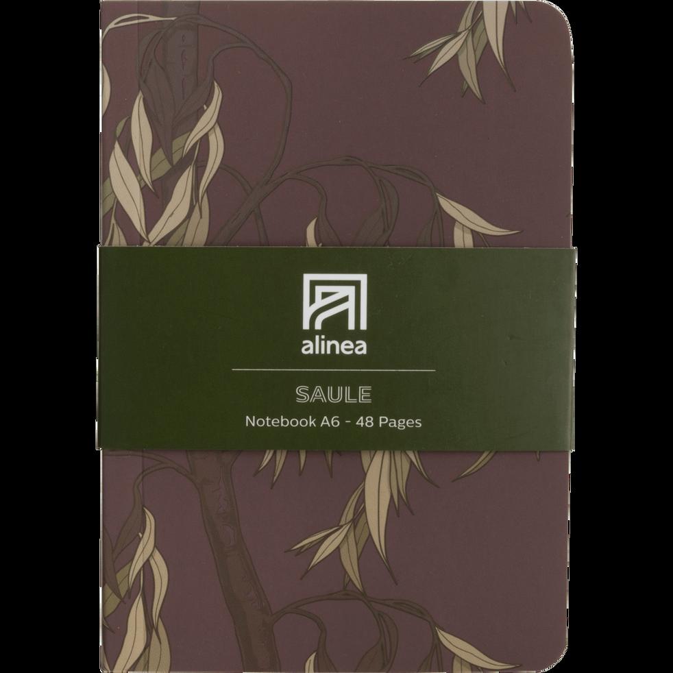 Carnet A6 motif saule-Saule