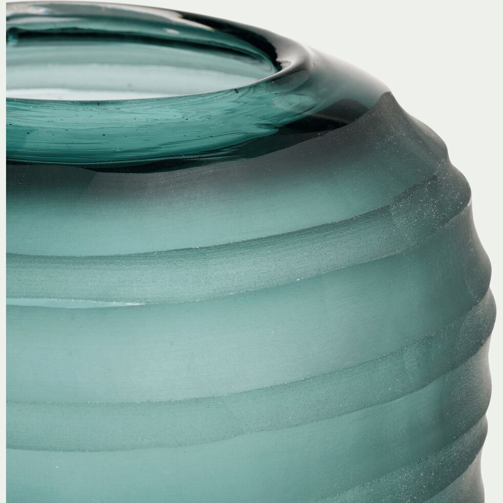 Vase en verre vert mat H49 cm-ANDREA
