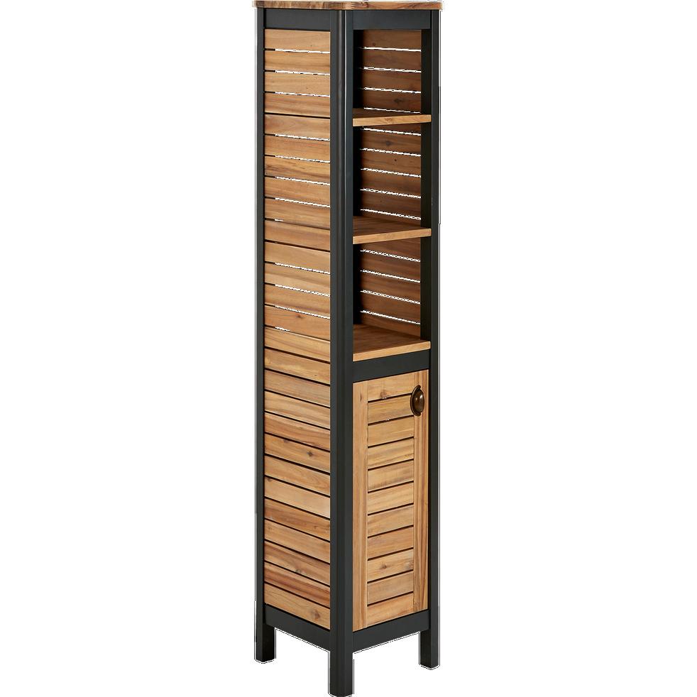 colonne de salle de bains en acacia massif 170cm pitaya. Black Bedroom Furniture Sets. Home Design Ideas