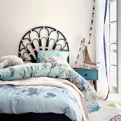 Tête de lit en rotin - bleu indigo l 90cm-Capo