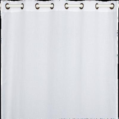 Voilage à œillets en lin blanc 135x300cm-LEO