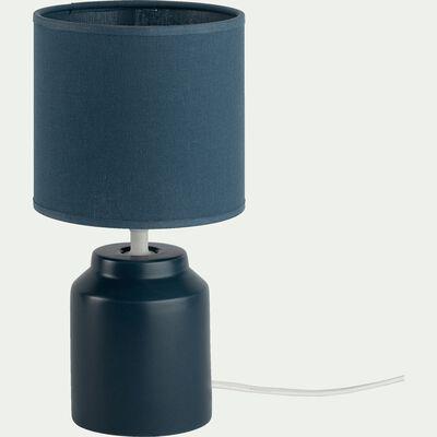 Lampe à poser en céramique bleu figuerolles H29cm-RODRIG