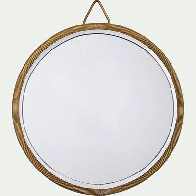 Miroir rond en cuivre - doré D14,5cm-BHIL