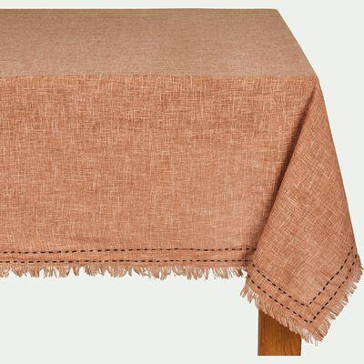 Nappe en polyester et coton rouge 140x250cm-STELLA