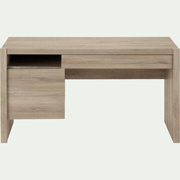 Bureau enfant avec un tiroir et une porte en bois - naturel-PAULIN