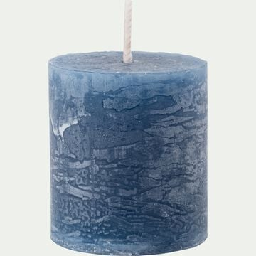 Bougie votive coloris bleu myrte H4,5cm-BEJAIA