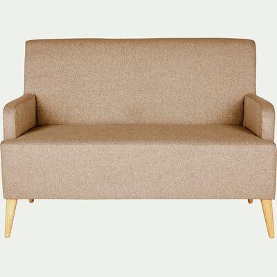 Canapé 2 places fixe en tissu - beige roucas-NANS