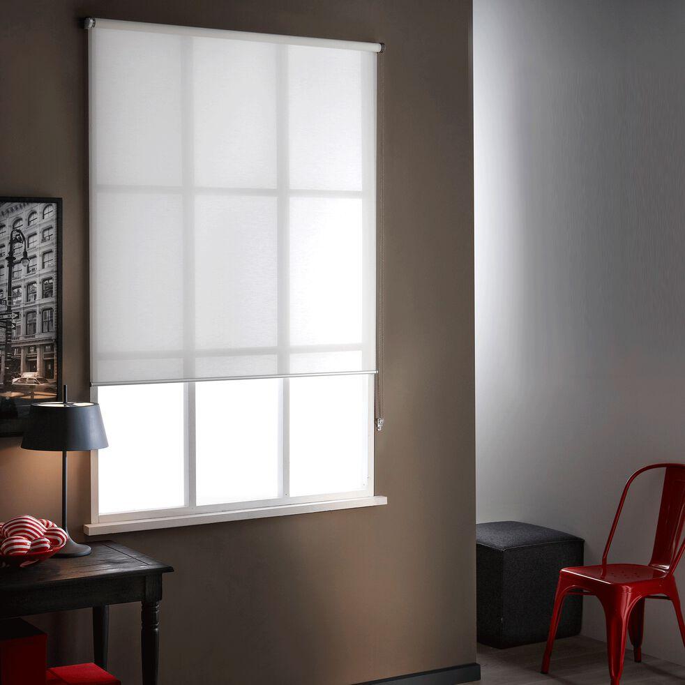 Store enrouleur voile blanc 120x250cm-VOILE