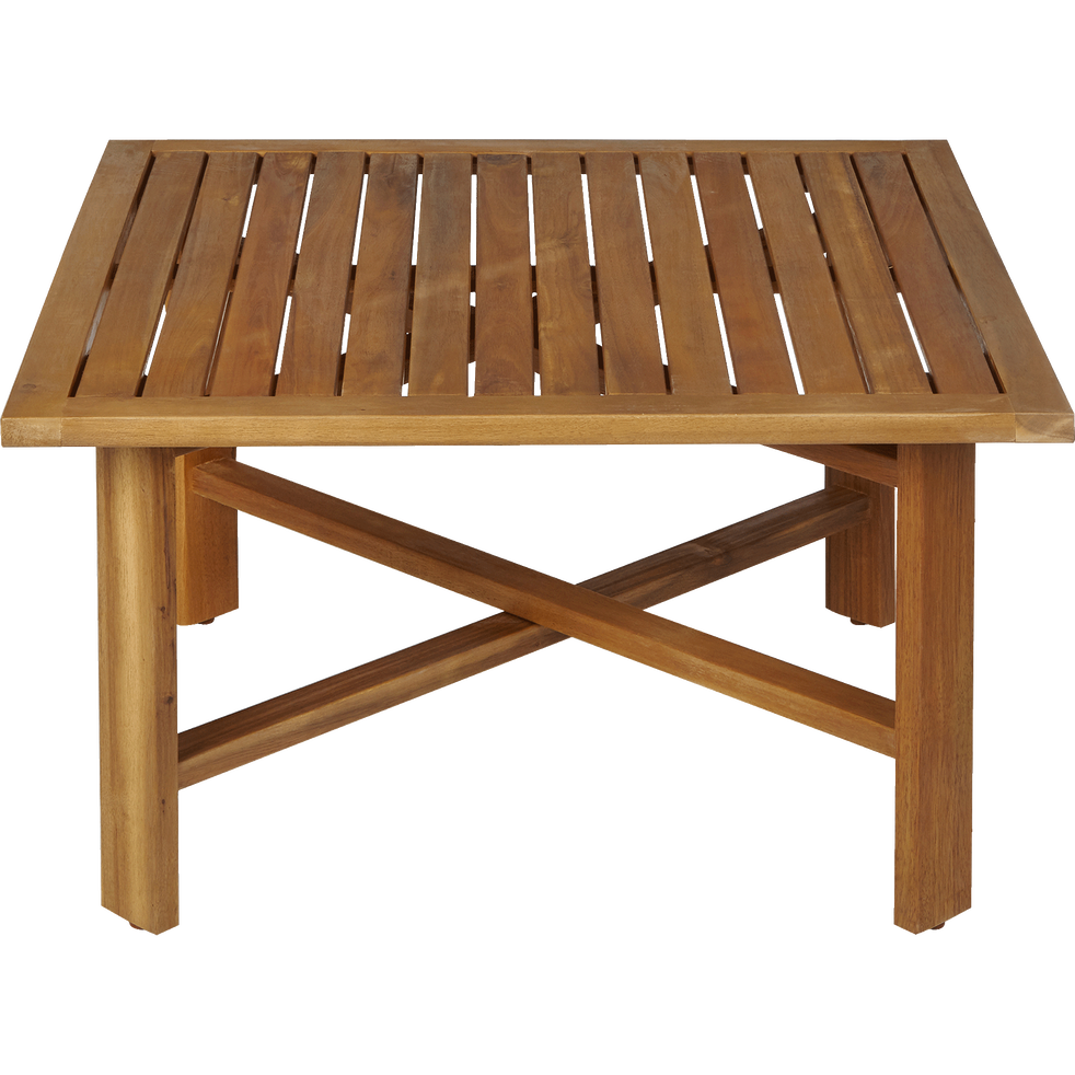 Table basse de jardin pliante en acacia - GUÉRANDE - tables basses ...