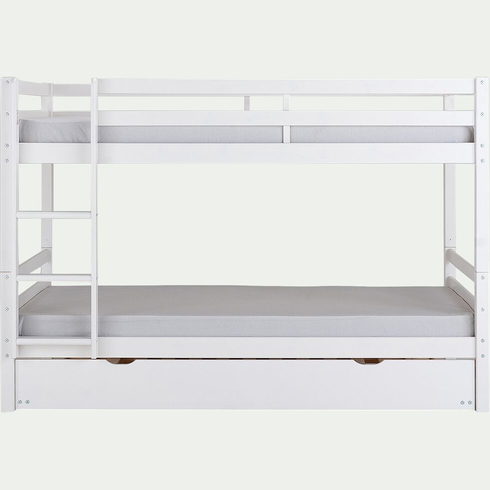Tiroir de lit coulissant en bois - L200cm blanc-NOA