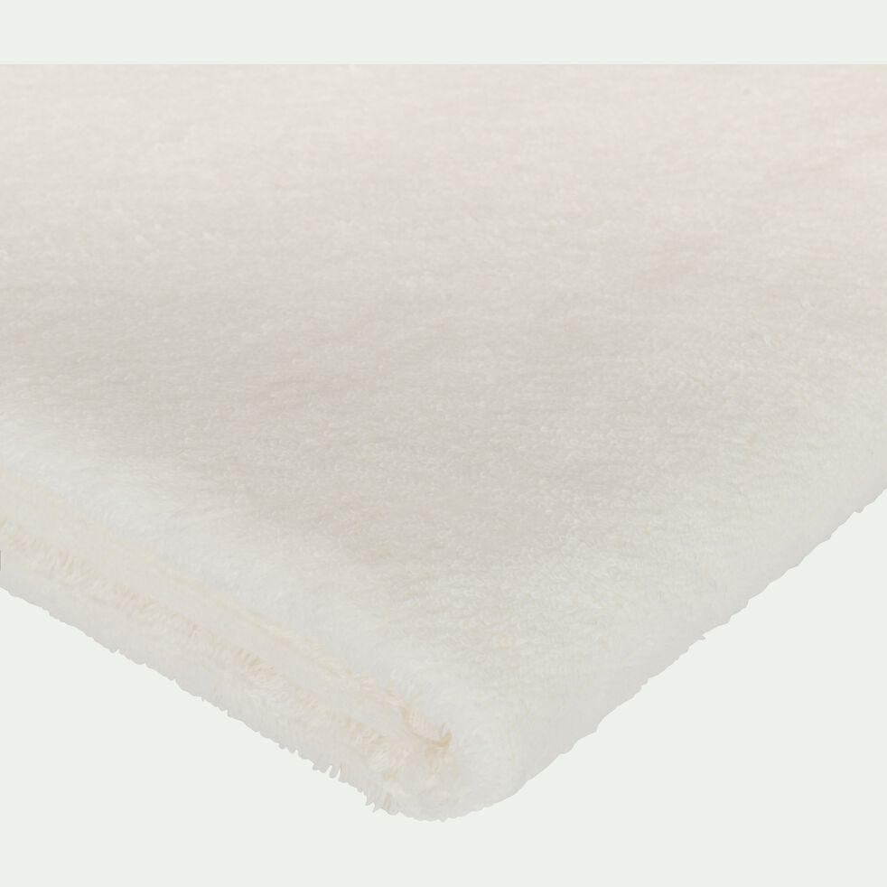 Drap de douche en coton peigné - blanc capelan 70x140cm-AZUR