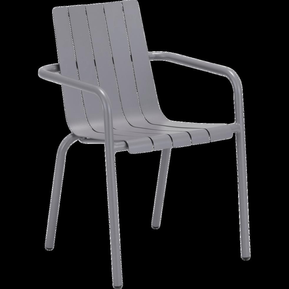chaise de jardin empilable en aluminium gris restanque. Black Bedroom Furniture Sets. Home Design Ideas