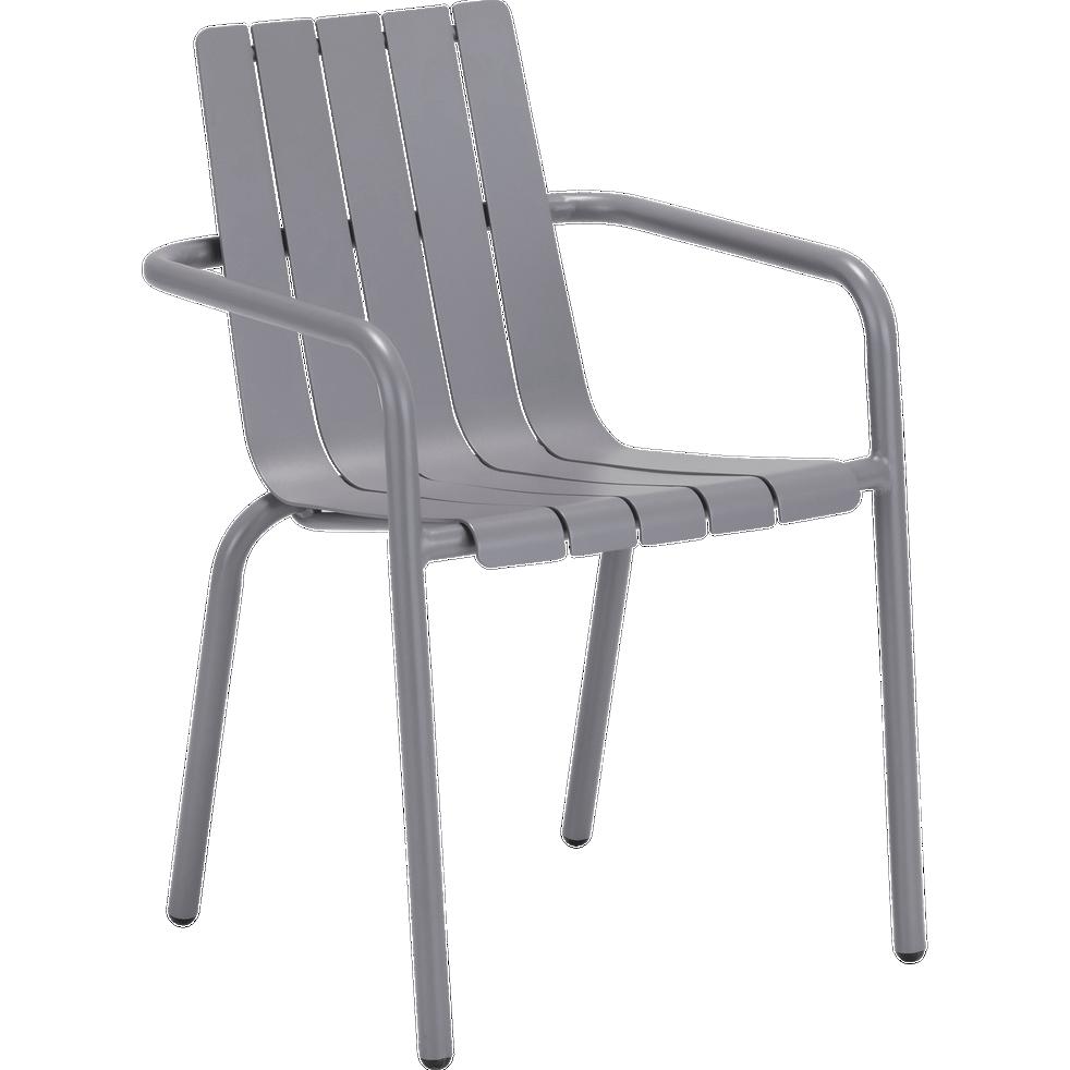 chaise de jardin empilable en aluminium gris restanque cenoza alinea. Black Bedroom Furniture Sets. Home Design Ideas